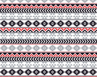 Gray black red and white tribal pattern craft  vinyl sheet - HTV or Adhesive Vinyl -  Aztec Peruvian pattern grey HTV921