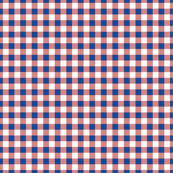 Red White And Blue Gingham Craft Vinyl Sheet Htv Or