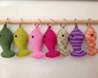 crochet pattern fish key chain