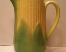 Pottery Corn Pitcher 8 1/2 Inch