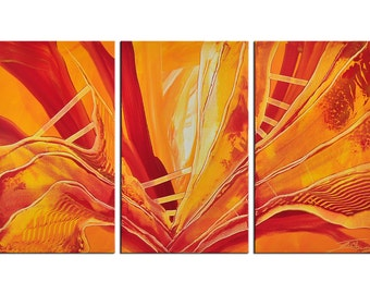 "Abstract orange Acrylic-painting, Original Art by JF The Artmakers : ""Y.O.R. IV"", Gallery of modern & contemporary  Art"