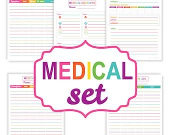 Sale. Printable family medical organizer set - printable organization PDF - Instant Download