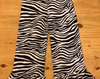 Zebra Ruffle Pants