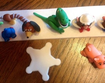 Toy Story fondant cake topper set