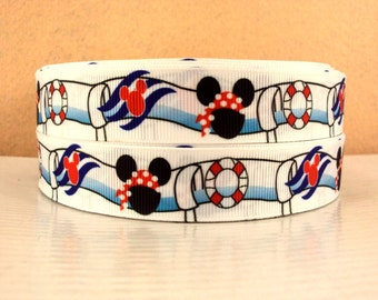 5 YDS Mickey Aquaduck Ribbon