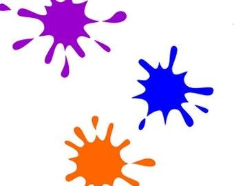 WW13 Paint Explosion Splatter Paint Ball Child Teen Fun Stencil Set