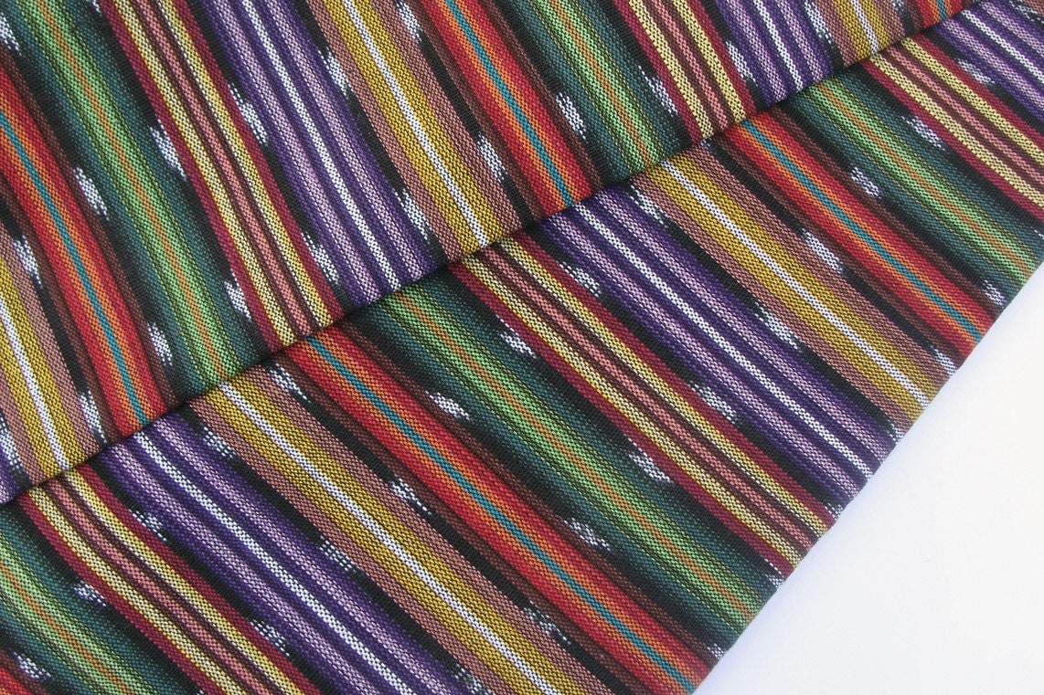 striped cotton fabric 24 from guatemala sold by the yard. Black Bedroom Furniture Sets. Home Design Ideas