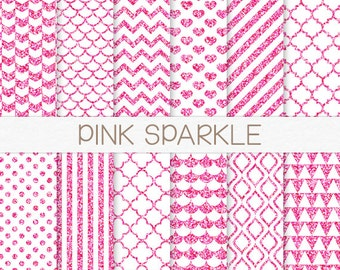Popular items for pink glitter paper on Etsy