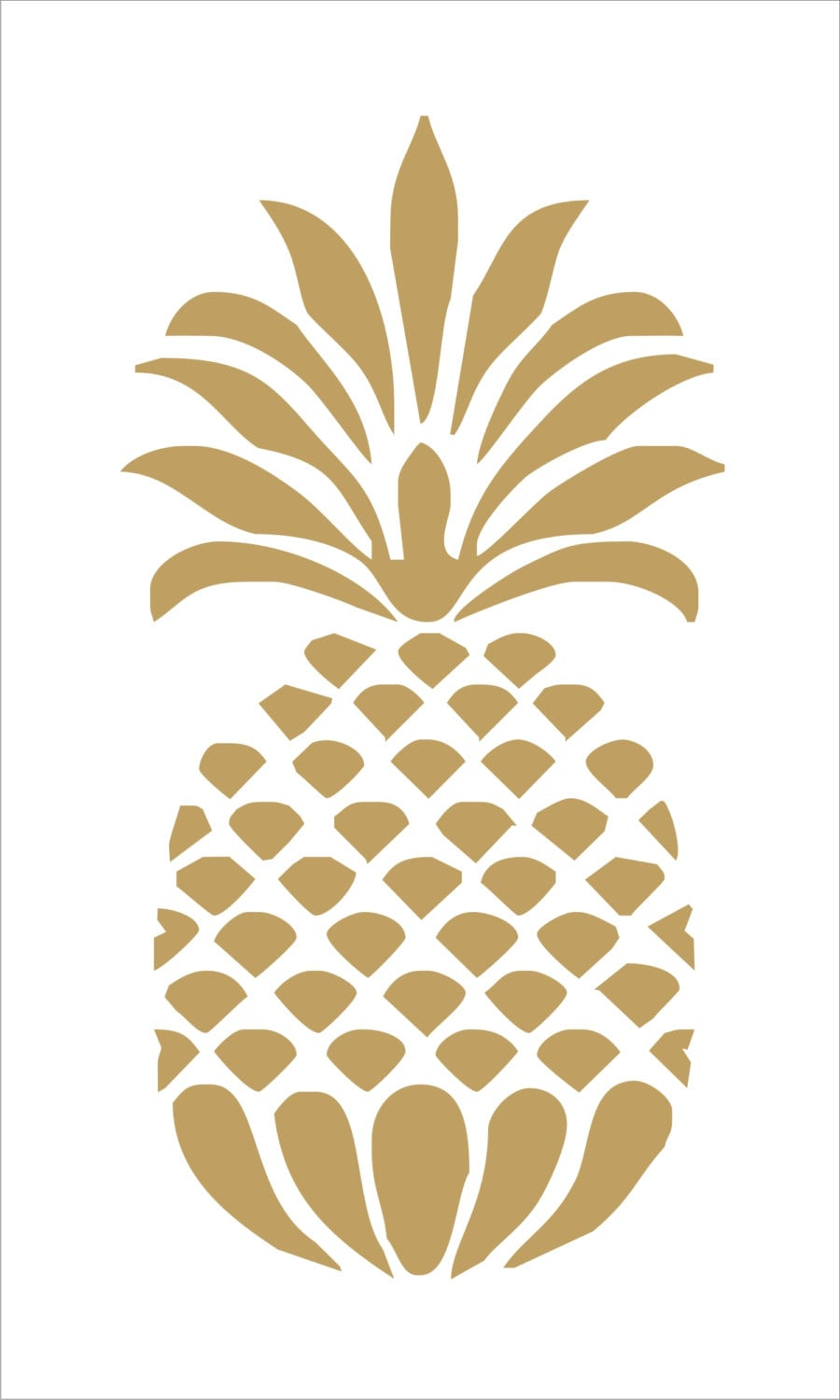 It's just an image of Witty Pineapple Stencil Printable