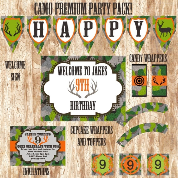 Camo Premium Party Pack JPEG 300 Dpi Printable By