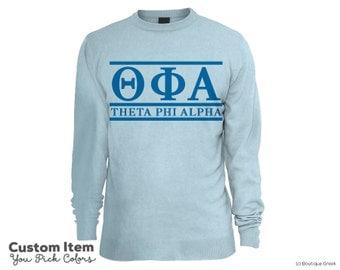 TPA Theta Phi Alpha Custom Comfort Colors Classic Sorority Sweatshirt