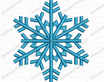 Snowflake Full Stitch Embroidery Design in 1x1 2x2 3x3 4x4 and 5x7 Sizes