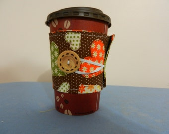 Patchwork Hearts coffee sleeve