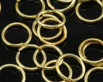 200 pcs 7 mm 20 gauge( 0,8 mm ) raw brass (varnish) jump ring 720JV-19