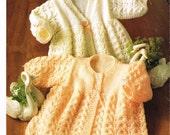Ladywood 206  baby matinee coat set  vintage knitting pattern PDF instant download