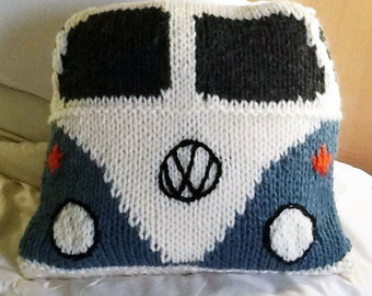 Campervan Tea Cosy Knitting Pattern : Items similar to VW Camper Van Knitted tissue box cover on Etsy