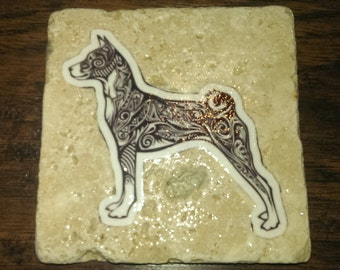 Basenji (Sketch/Graphic) Coaster