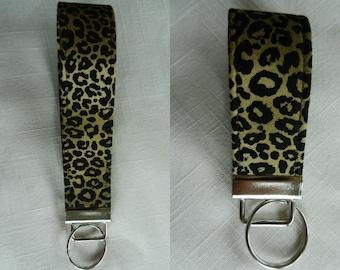Jaguar  design key fob~fabric~ key chain, wristlet, camera strap, flash drive holder