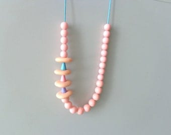 Baby pink pastel necklace