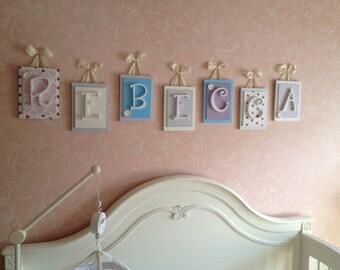 Nursery Letters Girls,Wooden Letters for Girls Nursery, Hanging Wall Letters, Girls Wooden Letters, Wooden Letters for Nursery, Baby Letters