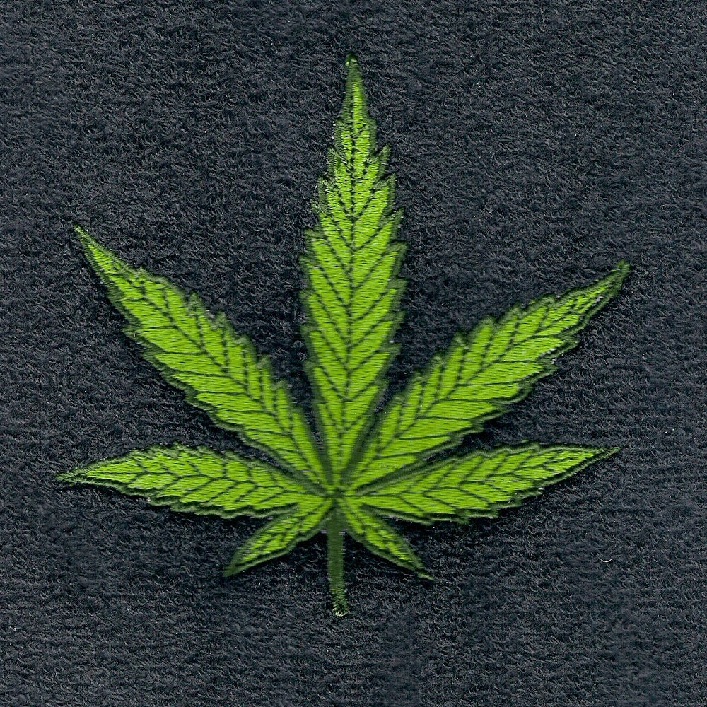 Cannabis Marijuana Machine Embroidery by Addicted2Embroidery