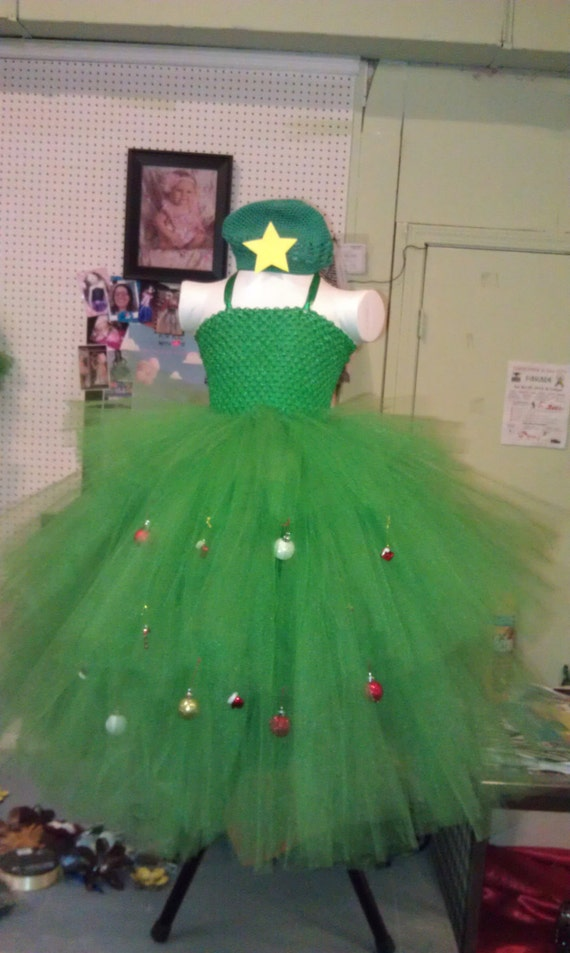 Christmas tree tutu dress costume with by foryouwithluv