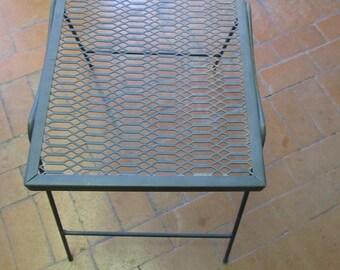 Vintage Black Metal Table