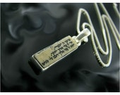 Charms jewelry,Charm judaica jewelry,Jewish amulet,Silver necklace with Jerusalem stone,priestly blessing engraved.
