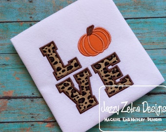 Love Pumpkin Applique Design