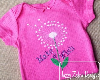 Dandelion Filled Embroidery Design