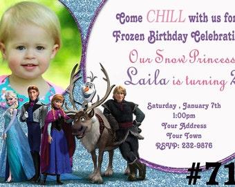 Frozen Birthday Invitation, printable You Print , Disney Frozen invitation