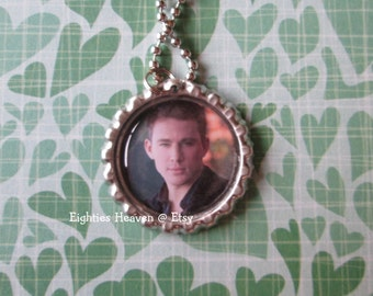 Channing Tatum bottle cap necklace or zipper pull or key chain