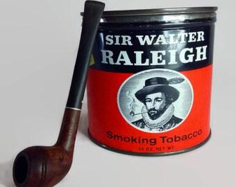Antique Tobacco Tin Sir Walter Raleigh by R. J. Reynolds