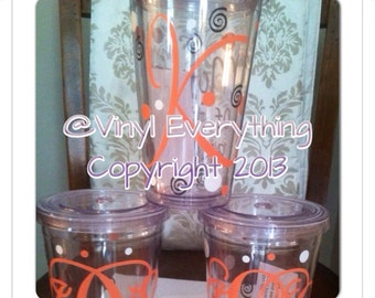 Set of 3 Personalized Tumblers