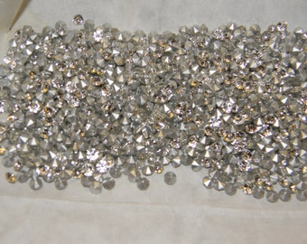 REDUCED!!! 10 Gross Silver Folied Preciosa Rhinestones SS19