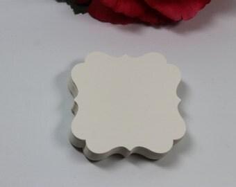 40pc 2x2 Cream/Ivory Flourish Square Die Cut