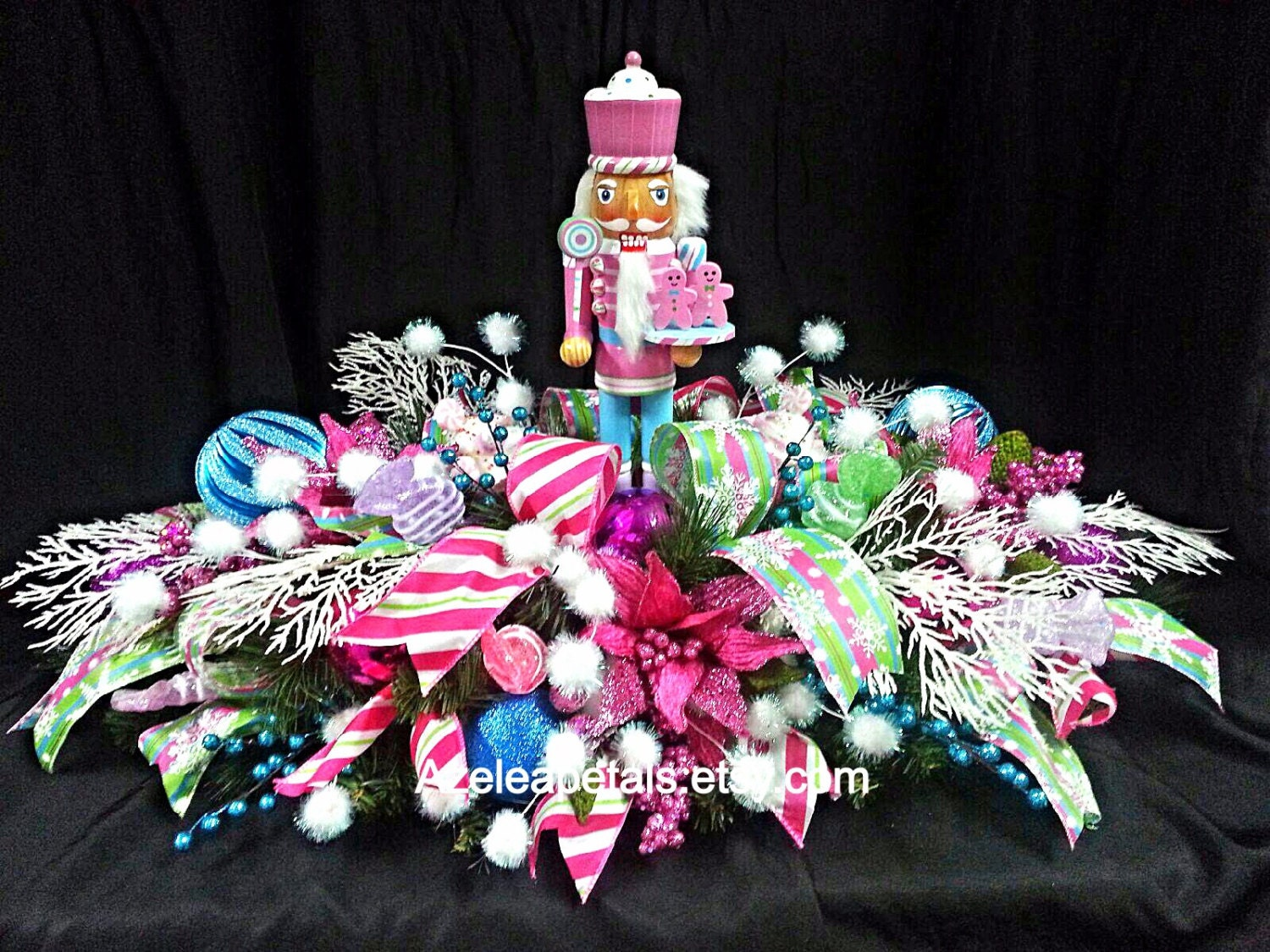 Pink christmas table decorations -  Zoom