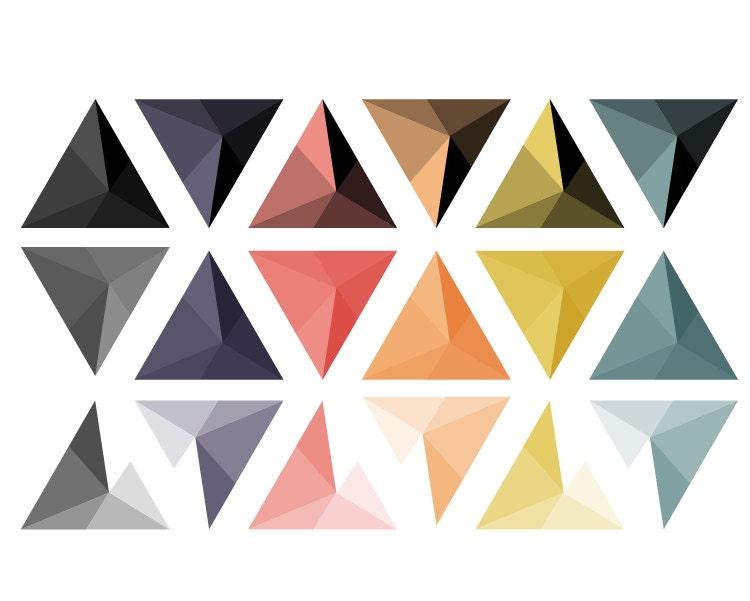 Abstract Triangle Studs Clipart // Geometric Digital Clip Art