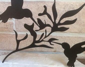 Metal Humming Birds  Home Decor - Inside/Outside Table Decoration