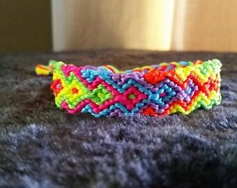 Neon diamond friendship bracelet.
