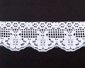 Vintage White Lace Trim 3 yards 2 inches wide
