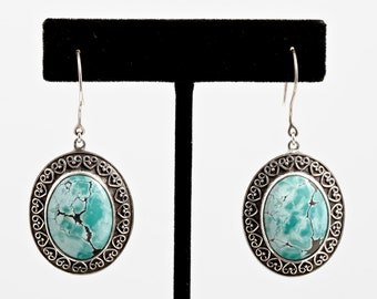 Turquoise 088 - Earrings - Sterling Silver & Turquoise