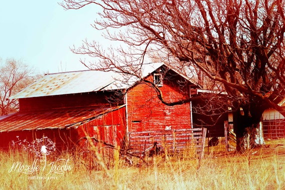Red Barn Wall Decor : Red barn photographic art home decor wall