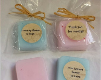 10 Baby Soap Shower favors with personalized tags-Ready to ship