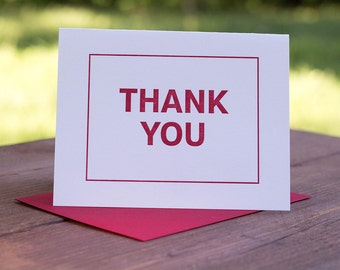 Thank you. Letterpress Greeting Card