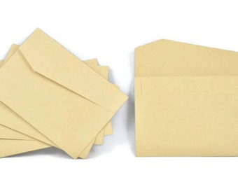 KRAFT PAPER ENVELOPES (Set of 5) - Kraft Envelope with Diagonal Flap (12cm x 17cm)