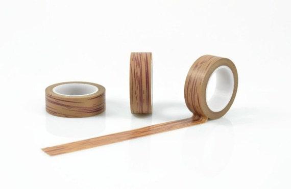wood washi tape tan dark burgundy wood grain pattern 10. Black Bedroom Furniture Sets. Home Design Ideas