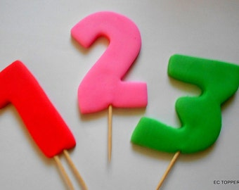 Fondant number for Cake Cupcake/Cookie Toppers