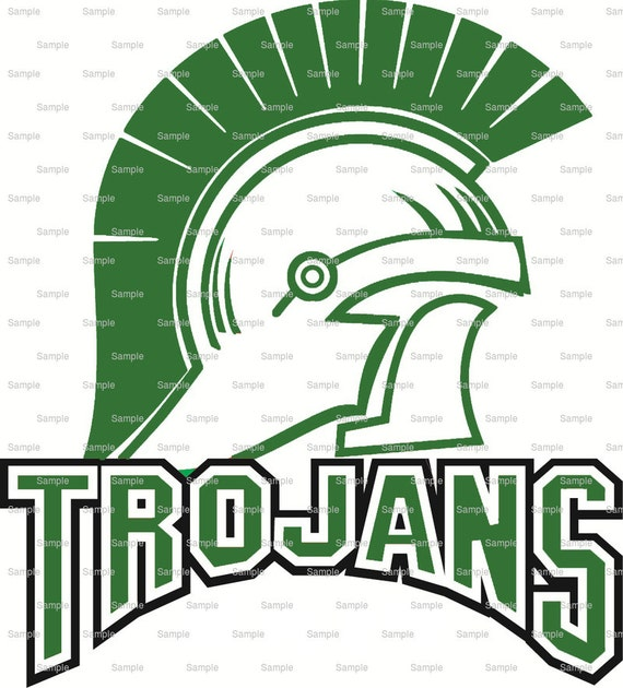 Green Trojans Mascot Cake Topper - Edible Cake and Cupcake Topper For Birthday's and Parties! - D10016