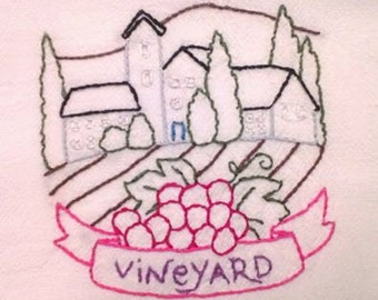 Wine Country pattern Vineyard Free Shipping